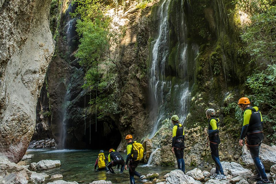 Canyoning, Castril Natural park,family activity holiday andalusia spain, Responsible travel