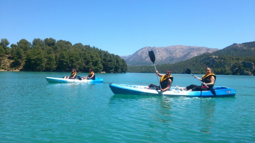 Kayaking, Castril Natural park,family activity holiday andalusia spain, Responsible travel